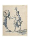Polish Dwarf Leading a Dog