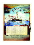 Sylt'  Poster Advertising the Sylt Steamship Company  1899