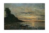 Plougastel  Sunset over the Estuary  C1870-73