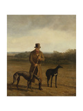 Portrait of Lord Rivers with Two Greyhounds  C1825