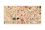 55 Cats Representing the Fifty-Three Stations of the Tokaido