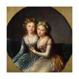 Portrait of Grand Duchesses Alexandra Pavlovna and Elena Pavlovna of Russia  1796