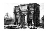 A View of the Arch of Constantine  from the 'Views of Rome' Series  C1760