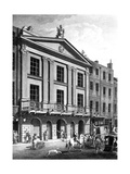 The Theatre Royal  Drury Lane  Engraved by Patrick Begbie  1776