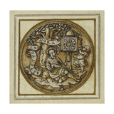 Allegory of Time - Design for a Pendant or Hat Badge  C1532-43