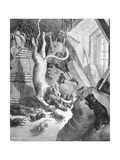 The Cat and the Old Rat  Illustration from 'Fables' by La Fontaine  1868