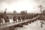 Londoner's Bridge across the The Jordan River with Mounted Anzac Troops Crossing  C1917-18