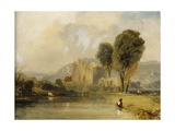 Valle Crucis Abbey  North Wales  1834
