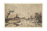 Landscape with Water  the Village of Amstelveen in the Background  C1654-55