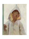 Portrait of a Young Boy Wearing a Burnous