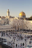 Western Wailing Wall  the Dome of the Rock and Omar Mosque  Old City  East Jerusalem