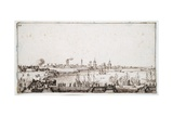 View of the Harbour of La Rochelle with Galleons Firing a Salute