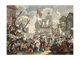 Southwark Fair  1733  Illustration from 'Hogarth Restored: the Whole Works of the Celebrated…