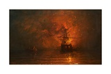 Ship on Fire  1873