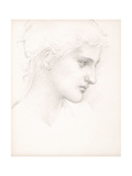 Girl's Head  Profile to Right  C1880