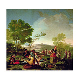 Meal on the Banks of the River Manzanares  1776