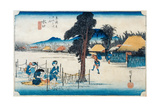 Minakuchi: Famous Production of Kampyo  from the Series 'Fifty-Three Stations on the Tokaido' …