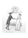 So Much Love and Eloquence'  Illustration from 'Pride and Prejudice' by Jane Austen  Edition…