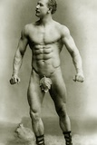 Eugen Sandow  in Classical Ancient Greco-Roman Pose  C1897