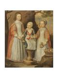 Portrait of the Three Children of George Preston of Holker  1650