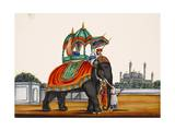 Elephant and a Mosque  from Thanjavur  India
