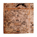 Detail of a Page from the Codex Troana Cortesianus  also known as the Madrid Codex