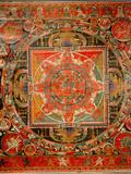 Thang-Ka Depicting a Mandala  Used as an Instrument of Meditation