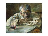 The Alcoholic  Father Mathias; a La Boutique  Chateau Du Bosc: Le Buveur  Le Pere Mathias  1882