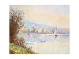 Boats on the Seine; Bateaux Sur La Seine