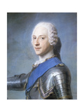 Portrait of Prince Charles Edward Stuart  Bust Length  in Profile to the Left  His Head Turned to…