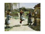 Little Girls Jumping Rope; Gamines Sautant a La Corde  1888