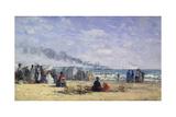 The Beach at Trouville at Bathing Time; La Plage De Trouville a L'Heure Du Bain  1868