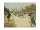 Elegant Figures before the Arc De Triomphe  Paris