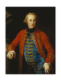 Portrait of a Cavalry Officer in Walking-Out Dress  Three-Quarter Length  Leaning on a Pedestal…