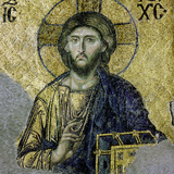 This Mosaic of the Enthroned Christ Is in the South Gallery of the Hagia Sophia  Istanbul