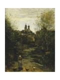 Semur  the Way to Church; Semur  Le Chemin De L'Eglise  C 1855-1860 and 1872-1873