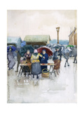 Rainy Day: the Fish Market  1892