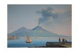View of Naples Bay with Mount Vesuvius