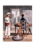 A Gentleman with His Hookah Burdah  or Pipe Bearer  1813