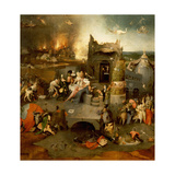 "The Triptych of ""The Temptation of St Anthony"" by Hieronymus Bosch (1450 - 1516)"