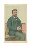 M Emile Zola  French Realism  24 January 1880  Vanity Fair Cartoon