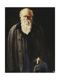 Portrait of Charles Darwin  Standing Three Quarter Length  1897