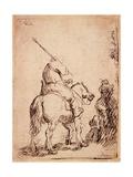 The Turbaned Soldier on Horseback  1632