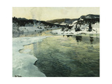 Winter on the Mesna River Near Lillehammer  C 1905-06