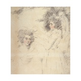 Portrait of Georgiana  Duchess of Devonshire and Lady Elizabeth Foster