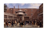 Settling Day at Tattersalls  Print Made by Charles Hunt  1836