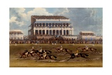 The Grand Stand at Epsom Races  Print Made by Charles Hunt  1836
