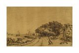 View on the Amstel: the Road on the Amsteldijk Leading to Trompenburg  C1649-50