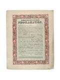 Emancipation Proclamation  Printed by Rufus Blanchard  C1863-1864