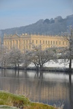 Chatsworth House from the Southwest over the River Derwent  Derbyshire